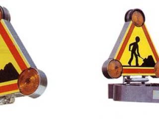 Triangle Rabattable double face à Leds ou Halogène